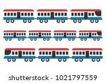 vintage train icon set ... | Shutterstock .eps vector #1021797559