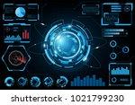 hud panel ui business... | Shutterstock .eps vector #1021799230