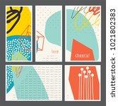 set of creative universal... | Shutterstock .eps vector #1021802383