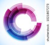 geometric frame from circles ...   Shutterstock .eps vector #1021807273