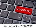 group buying or collective buying, internet shopping. - stock photo