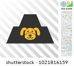 puppy citadel icon with 7... | Shutterstock .eps vector #1021816159