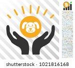 puppycoin prosperity hands... | Shutterstock .eps vector #1021816168