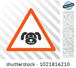 puppy warning pictograph with 7 ...