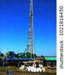 Small photo of Drilling a well to extract water and provide it with a population
