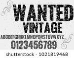 vintage font typeface... | Shutterstock .eps vector #1021819468