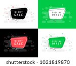 set of trendy flat vector... | Shutterstock .eps vector #1021819870