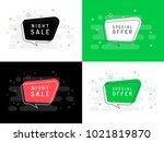 set of trendy flat vector... | Shutterstock .eps vector #1021819870
