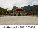 hoa lu ninh binh  first capital ... | Shutterstock . vector #1021828408