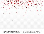 vector realistic isolated heart ... | Shutterstock .eps vector #1021833793