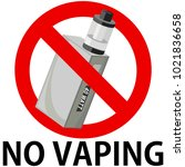No Vaping Box Mod With Text...