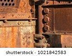 rusty metal construction... | Shutterstock . vector #1021842583