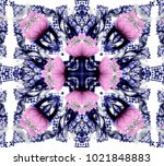 abstract colored symmetrical... | Shutterstock . vector #1021848883