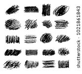 set of artistic pencil brushes. ... | Shutterstock .eps vector #1021861843