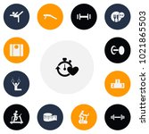 set of 13 editable sport icons. ...