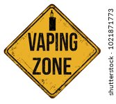 vaping zone vintage rusty metal ... | Shutterstock .eps vector #1021871773