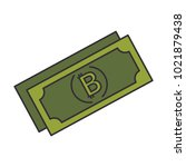 bill virtual money icon | Shutterstock .eps vector #1021879438