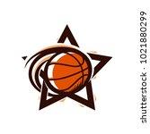 basketball star sport logo   Shutterstock .eps vector #1021880299