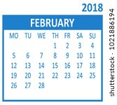 february. second page of set.... | Shutterstock .eps vector #1021886194