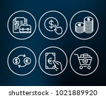 set of buy currency  currency... | Shutterstock .eps vector #1021889920