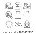 set of service  synchronize and ... | Shutterstock .eps vector #1021889950