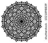 geometric mandalas. coloring... | Shutterstock .eps vector #1021898839