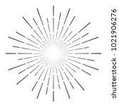 vintage sunburst design vector... | Shutterstock .eps vector #1021906276