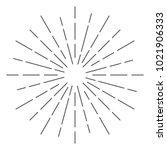 vintage sunburst design vector... | Shutterstock .eps vector #1021906333