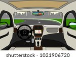car on the road  a view from... | Shutterstock .eps vector #1021906720