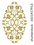 floral medallion for design.... | Shutterstock .eps vector #1021917913
