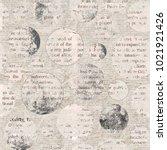 newspaper texture. news collage ... | Shutterstock . vector #1021921426