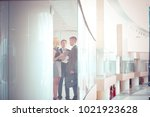business woman standing with... | Shutterstock . vector #1021923628