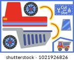 cut and glue the paper lorry.... | Shutterstock .eps vector #1021926826