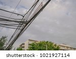 aesthetic pollution with power...   Shutterstock . vector #1021927114