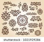 set design elements. vector... | Shutterstock .eps vector #1021929286