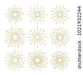 golden vintage sunburst design... | Shutterstock .eps vector #1021932244