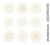 golden vintage sunburst design... | Shutterstock .eps vector #1021932253
