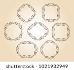 elegant frame.vector... | Shutterstock .eps vector #1021932949