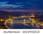 aerial view of danube river and ... | Shutterstock . vector #1021933213