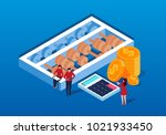 isometric calculations and... | Shutterstock .eps vector #1021933450