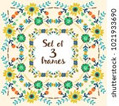 set of floral frames | Shutterstock .eps vector #1021933690