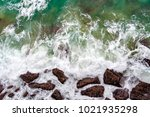 view from directly above on sea ... | Shutterstock . vector #1021935298