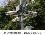 outdoor security camera... | Shutterstock . vector #1021935739