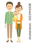 young couple and baby   Shutterstock .eps vector #1021941028