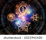 virtual space series. 3d... | Shutterstock . vector #1021941430