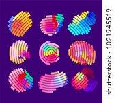 abstract vector background dot... | Shutterstock .eps vector #1021945519