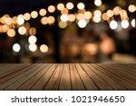 top desk with blur restaurant... | Shutterstock . vector #1021946650