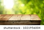 empty wooden table background | Shutterstock . vector #1021956004