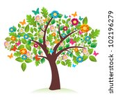 abstract spring time tree... | Shutterstock .eps vector #102196279