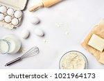 preparation of the dough. a... | Shutterstock . vector #1021964173